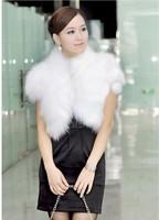 Free shipping Fashion women  rabbit fur vest fox fur vest  female cape cardigan slim formal dress