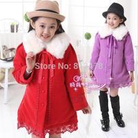 frozen winter coat frozen jackets girls outerwear girl jacket winter children coat children jackets fur collar woolen overcoat
