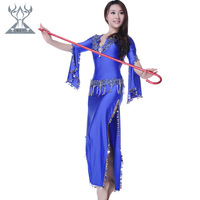 Belly dance costume dance performance wear set laciness placketing 2166