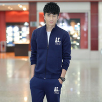 2014 Fall  New Influx of men  Korean collar sweater sports leisure suit  Jacket men  Jogging suits  Long-sleeved sports trousers