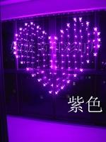 128LED 34-Heart String Lamp Birthday Lights Romantic Wedding 2M Width Love LED Curtain Lantern Holiday Lighting
