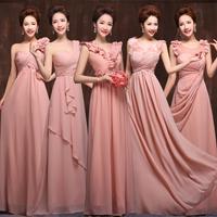 2014 Fashion Sexy Long Blush Pink Bridesmaid Dresses under $50 (Abendkleid)
