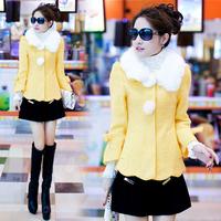 Wool wool coat outerwear female short design 2014 autumn and winter women's woolen overcoat female short jacket