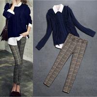 New 2014 trousers casual set slim sweater Sweatshirts fashion ladies pencil pants Women