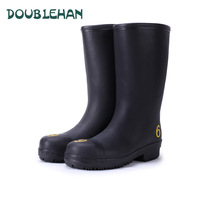 Doublehan men's steel head wear-resistant spring and autumn boots water shoes high men rain boots fishing shoes rubber boots