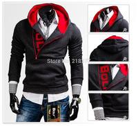 2014 new come autumn men hoodies star printed pullover men casual slim sweatshirt outerwear three color