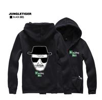 2014 new drama with paragraph breaking bad Breaking Bad men brushed hooded jacket Korean men hoodies zipper sweater