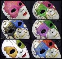 Halloween party mask ruslana korshunova lovers mask full colored drawing gold dust mask