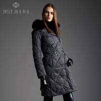 Down coat noble fox fur female medium-long fashion
