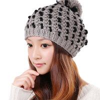 Fashion Headwear Beanies women Warm Rageared Baggy Winter Beanie Chunky Knit Crochet Ski Hat Cap M0341-1