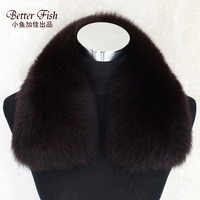 Hot-selling Unisex large Real fox fur collar  big square scarf 9color women's men's shawl