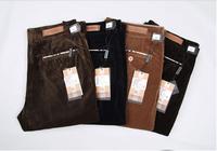 2014 Autumn And Winter Corduroy Pant Casual Men Pants Loose Straight Long Pants Commercial Men's Plus Size Brand
