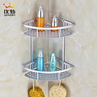Health Home Furnishing aluminum space bathroom double shelf kitchen bathrooms alloy storage shelf delta blue shelf