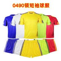 Paintless uniforms football jersey separate top separate trousers 0490 series badge