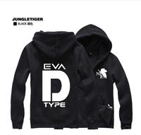 Evangelion Autumn 2014 D-type weapons hooded jacket zipper cardigan sweater autumn Korean version hoodies cotton hoodies men
