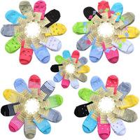 Free shipping Women's solid color cotton socks four seasons candy color knee-high socks dot bow stripe socks female