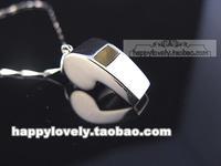 925 pure silver jewelry Women women's platinum three-dimensional whistle pendant microstomia pendant