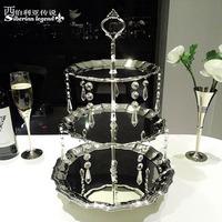 Fashion crystal 3120 fall cupcake cake dessert plate dessert rack fruit plate