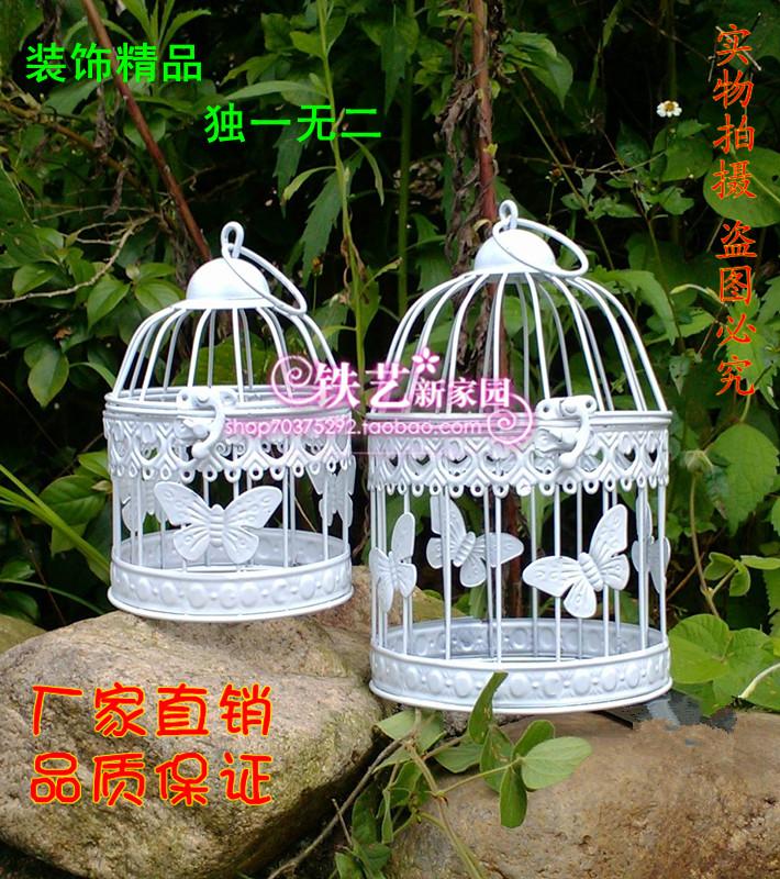 Moda gaiola de ferro decoração da flor do casamento decoração da janela do vintage pendurado gaiolas decorativas do pássaro gaiola de pássaro(China (Mainland))