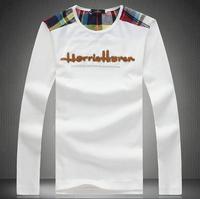 2014 New Autumn Men Clothes Cotton Mens t shirt Long Sleeve TShirt Slim Casual Winter Undershirt,Sport Wear Big szie M-5XL #9908