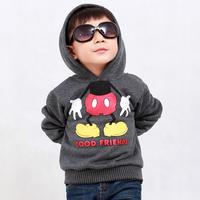 Children's clothing outerwear 2014 autumn and winter male child thickening sweatshirt 1 - 2 - 5-8-12 children top