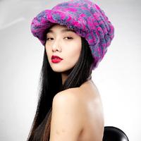 Winter hat sand cap fur hat rex rabbit full leather hat fashion women's cap thickening female