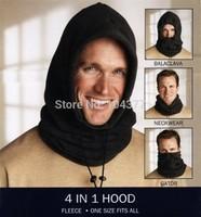 Outdoor Tactical Fleece Hat Balaclava Neckwear Multifunction 4 in 1 Hood Winter Thermal Face Mask Collar Motorcycle Ride Gator