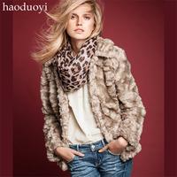 Real Rabbit Fur Vest Fashion White Fur Coat Long Sleeve Rabbit Fur Vest Coat Invisible Button Imitation Wool Outerwear Lining