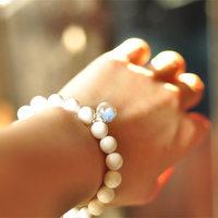 Accessories white tridacna bracelet handmade luminous beaded bracelet female gift