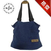 2014 casual female denim shoulder bag handbag messenger bag female canvas bag man bag