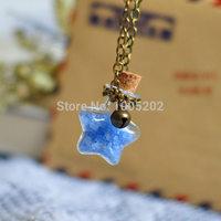 Wishing bottle necklace luminous necklace essential oil bottle necklace perfume bottle necklace small glass fresh light emitting