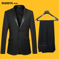 Male suits slim suit business casual suit professional set wedding dress