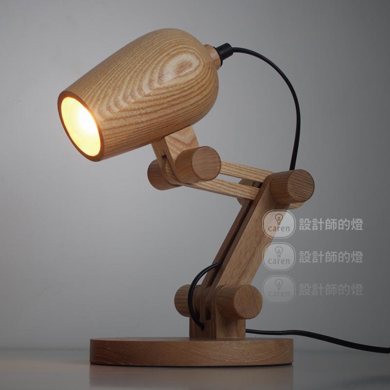 Loft American Vintage Wooden shade Handmade Wood LED Night Table Lamp Wooden Desk Lighting Modern Bulb Desk Light Decor 110-240V(China (Mainland))