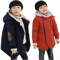 Children's clothing male child wadded jacket 2014 winter child thickening plus velvet baby boy cotton-padded jacket outerwear