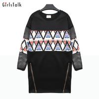 High quality 2014 autumn fashion grid fashion sexy cutout patchwork print elegant one-piece dress