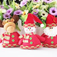 Fabric small cloth dolls christmas gift snowman christmas tree