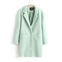 2014 Elegant Korean Fashion Loose Solid Color Woolen Overcoat, Women's Winter Warm and Trendy Woolen Jacket