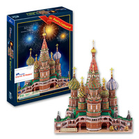 Large model handmade toys puzzle playright series  Vasile Assumption Cathedral Saint Basil's Cathedral
