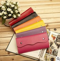 Simple fashion large wallet  drop  shipping free shipping