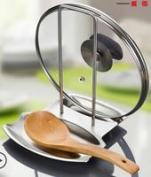 free shipping Thickening 304 stainless steel pot rack belt water tray multifunctional shelf spoon storage rack jarhead
