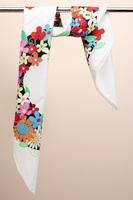 88*88cm Bocoos slanting stripe silk white silk mulberry silk large facecloth large silk scarf cape