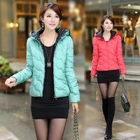 New 2014 Fashion Ladies Down Short Design Coat Winter Cotton-padded winter Jacket Women Slim Solid Zipper Outerwear