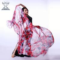 Faux silk belly dance scarf gradient print belly dance yarn scarf sj007
