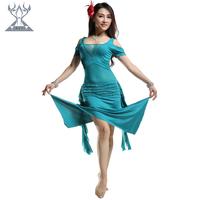 Belly dance set practice service set milk silk performance wear quality 2206 leotard