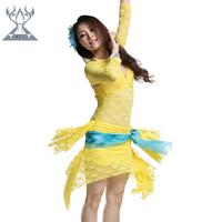 Belly dance set lace performance wear set clothes quality 2203 leotard