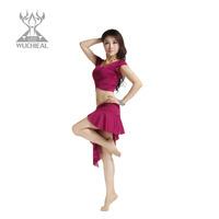 Belly dance leotard set quality slim milk, silk short skirt set