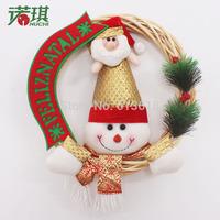 2014 NEW 30 cm snowman Christmas old man cane wreath door trim Christmas decorations