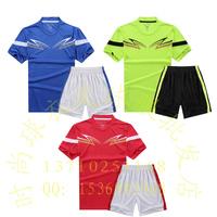 2015 soccer jersey set football jersey football clothing paintless soccer jersey short-sleeve football training services