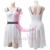 Ballet dance black-and-white 2 fitness leotard adult al0311 one-piece dress