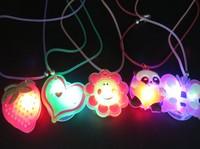 Light-up toy led flash cartoon necklace